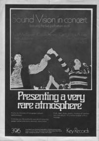Advert for 'Sound Vision In Concert'