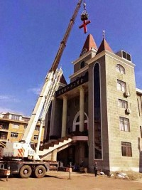 Cross removal at Shangnian Church in Taizhou